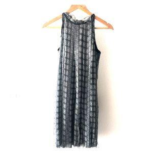 Printed silk chiffon dress